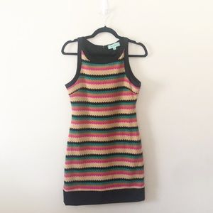 Karlie Boutique Striped Knit Sweater Dress